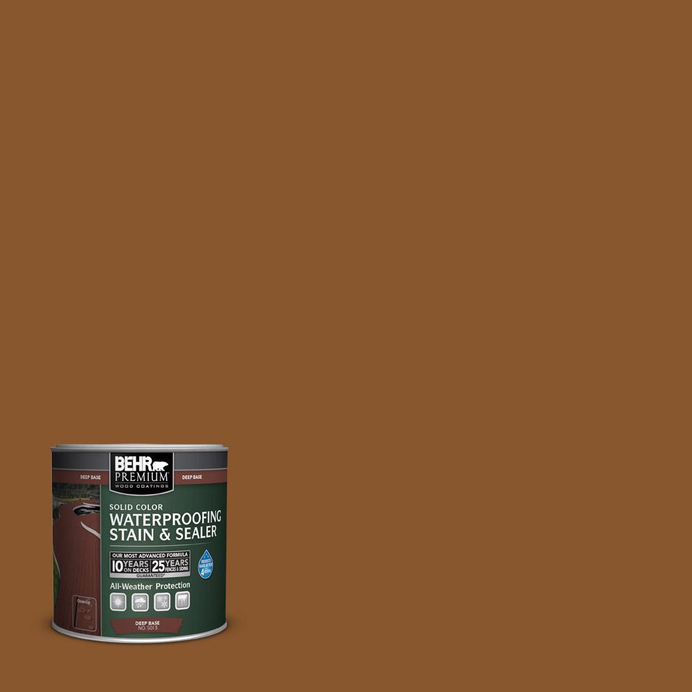 behr premium 8 oz sc 115 antique brass solid color waterproofing