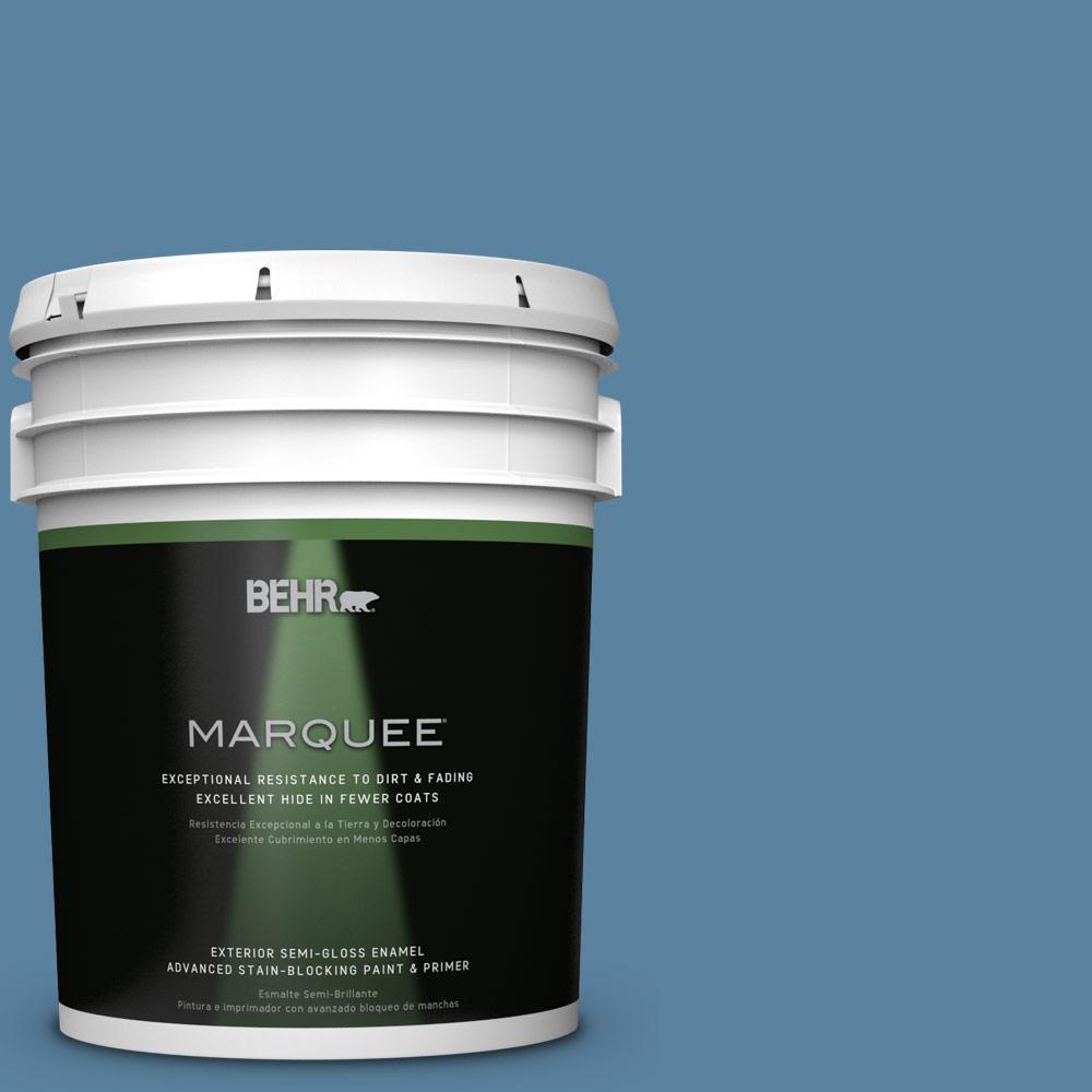 5-gal. #BIC-38 Honest Blue Semi-Gloss Enamel Exterior Paint