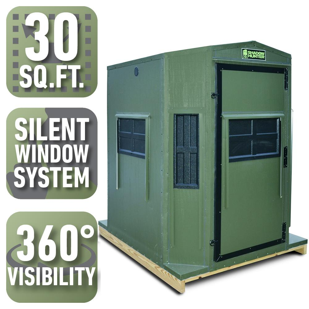 Shadow Hunter 5 Ft X 6 Ft Octagon Combo Blind With 360 Sight And Shooting Visibility Pre Assembled