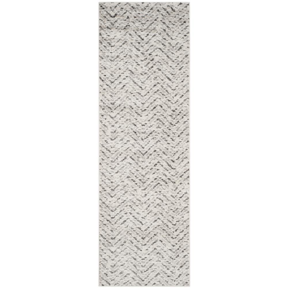 Adirondack Ivory/Charcoal 3 ft. x 6 ft. Runner Rug