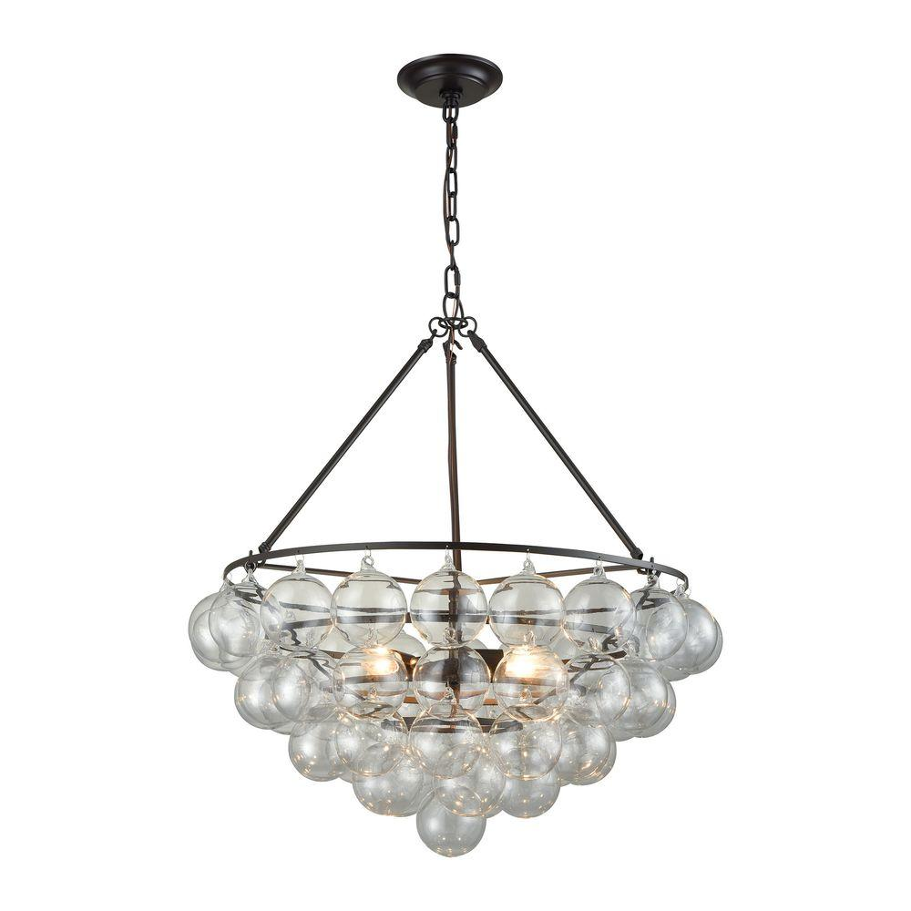 An Lighting Cuvee 3 Light Oil Rubbed Bronze Small Chandelier