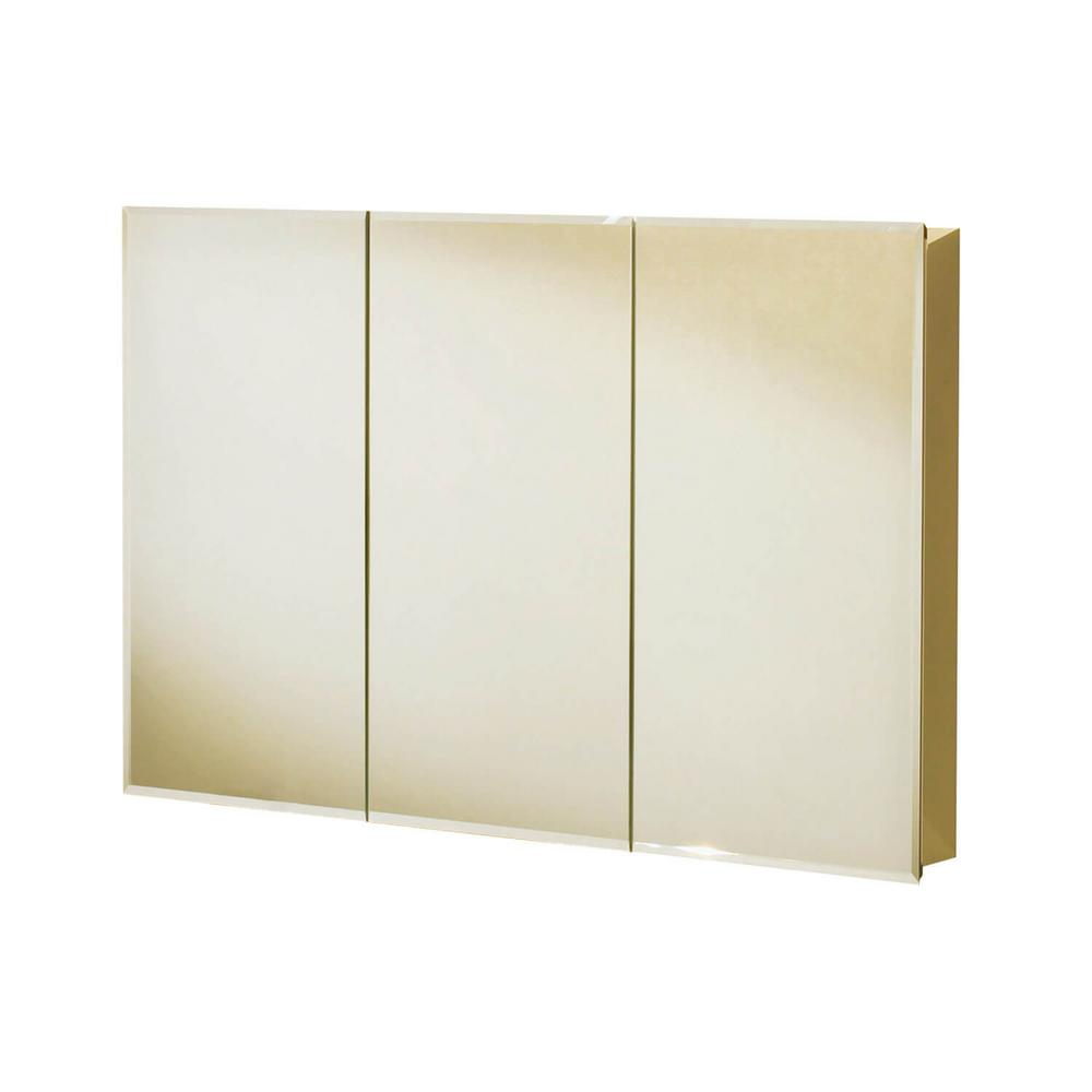 MAAX TV3031 30 in. x 31 in. Recessed or Surface Mount Medicine Cabinet in Tri-View Beveled Mirror