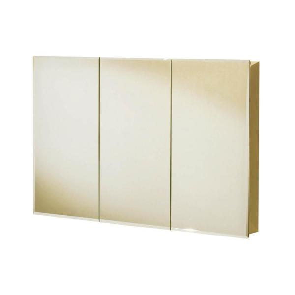 TV3031 30 in. x 31 in. Recessed or Surface Mount Medicine Cabinet in Tri-View Beveled Mirror