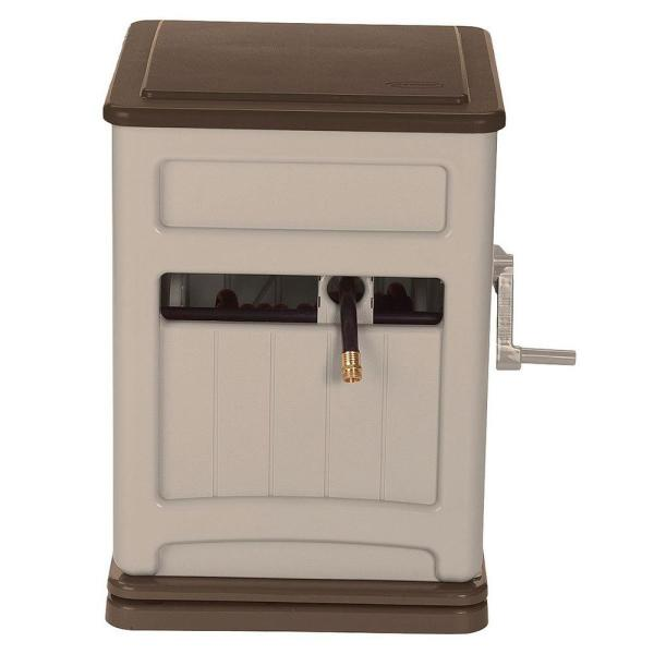 SSB200B Swivel Hose Reel Hideaway with Smart Trak Hose Guide and Bin in Taupe