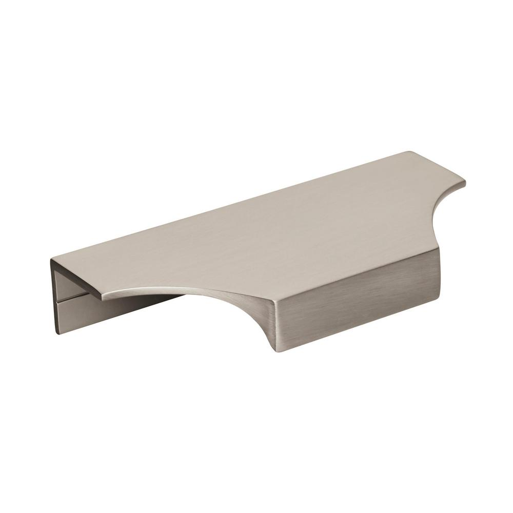 Amerock Amerock Extent 4-3/16 in. (106 mm) Center-to-Center Satin Nickel Cabinet Edge Pull