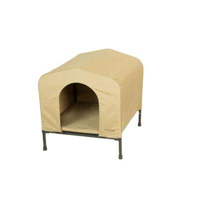 33 in. D x 28 in. W x 29.5 in. H HoundHouse Khaki Large Portable Dog House