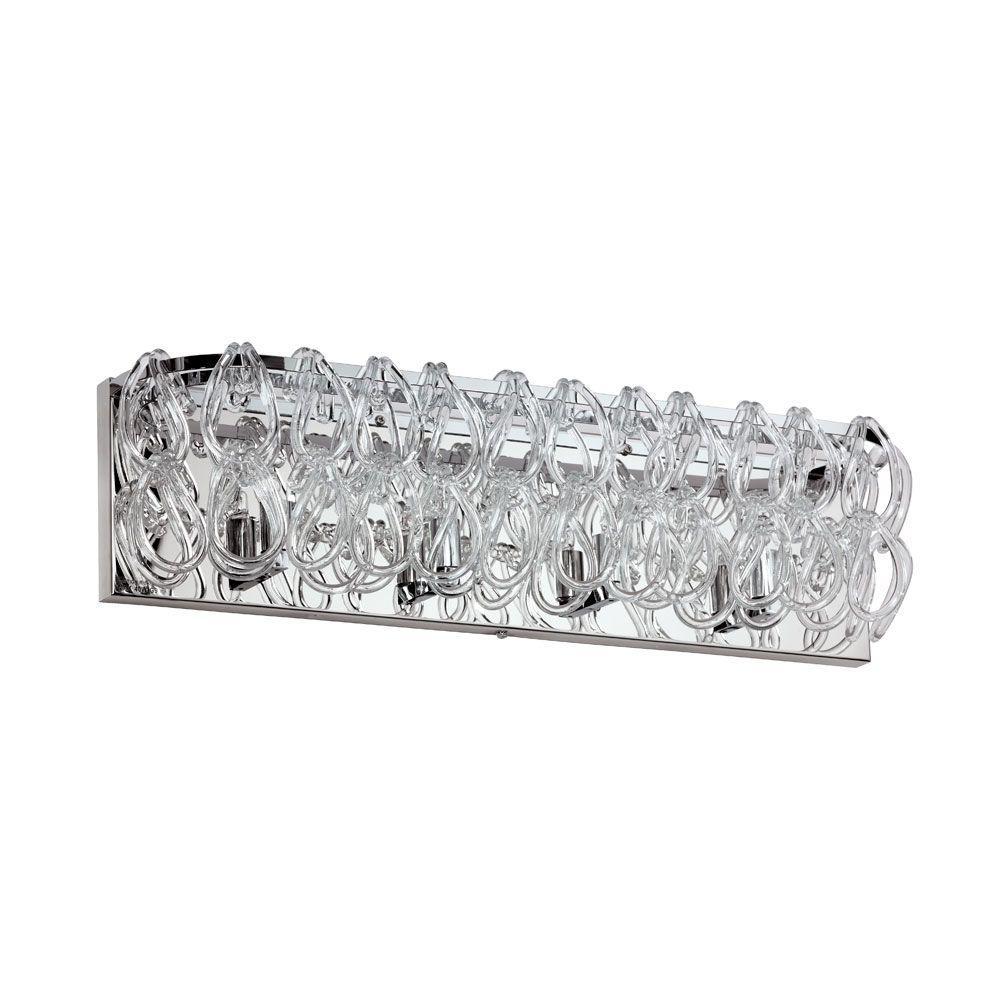 Cristallo 4-Light Clear Vanity Light