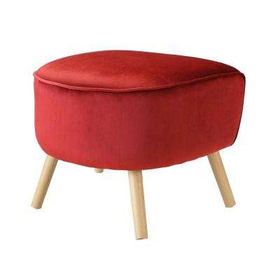 Aisling Red Ottoman