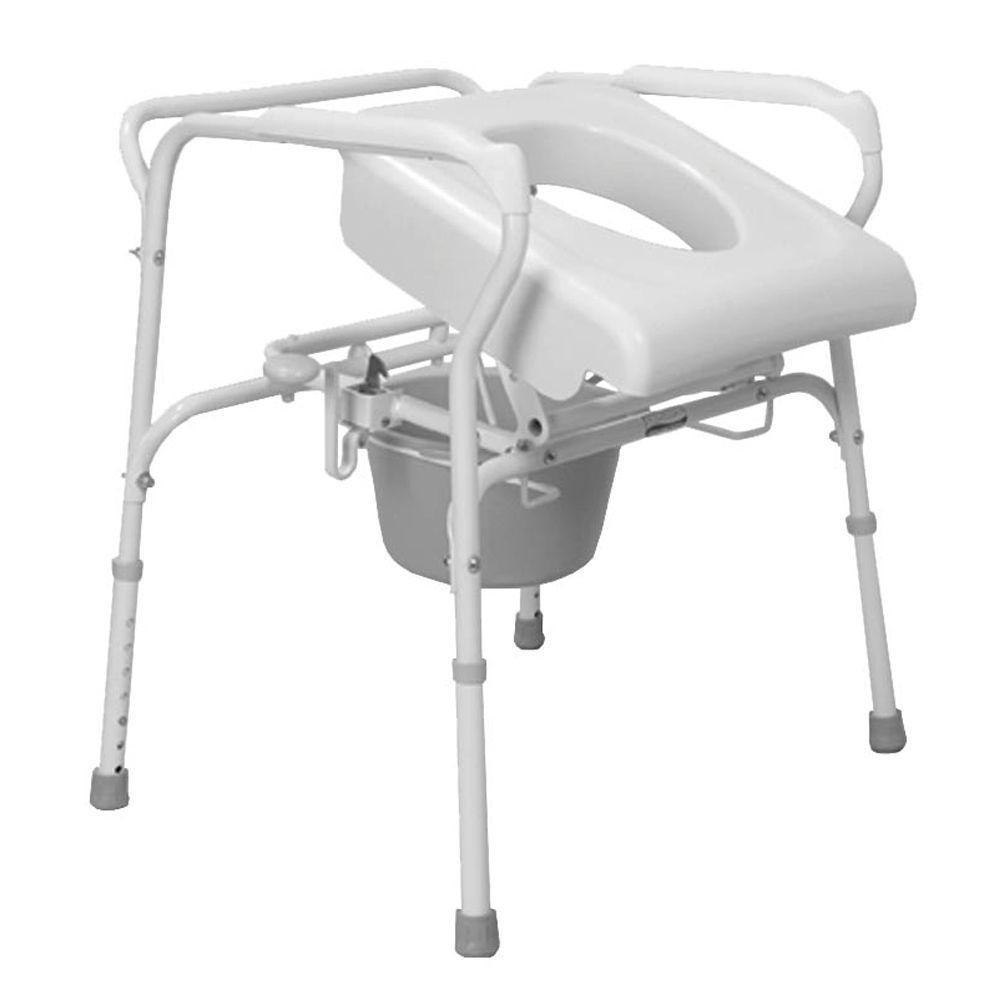 Carex Health Brands Bedside Commode with Uplift Assist