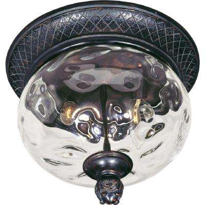 Carriage House Vivex 2-Light Oriental Bronze Outdoor Flushmount