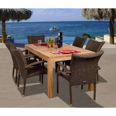 teak outdoor dining table Teak   Patio Dining Furniture   Patio Furniture   The Home Depot teak outdoor dining table