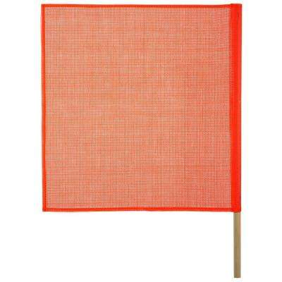 18 in. x 18 in. Safety Flag with Wood Dowel