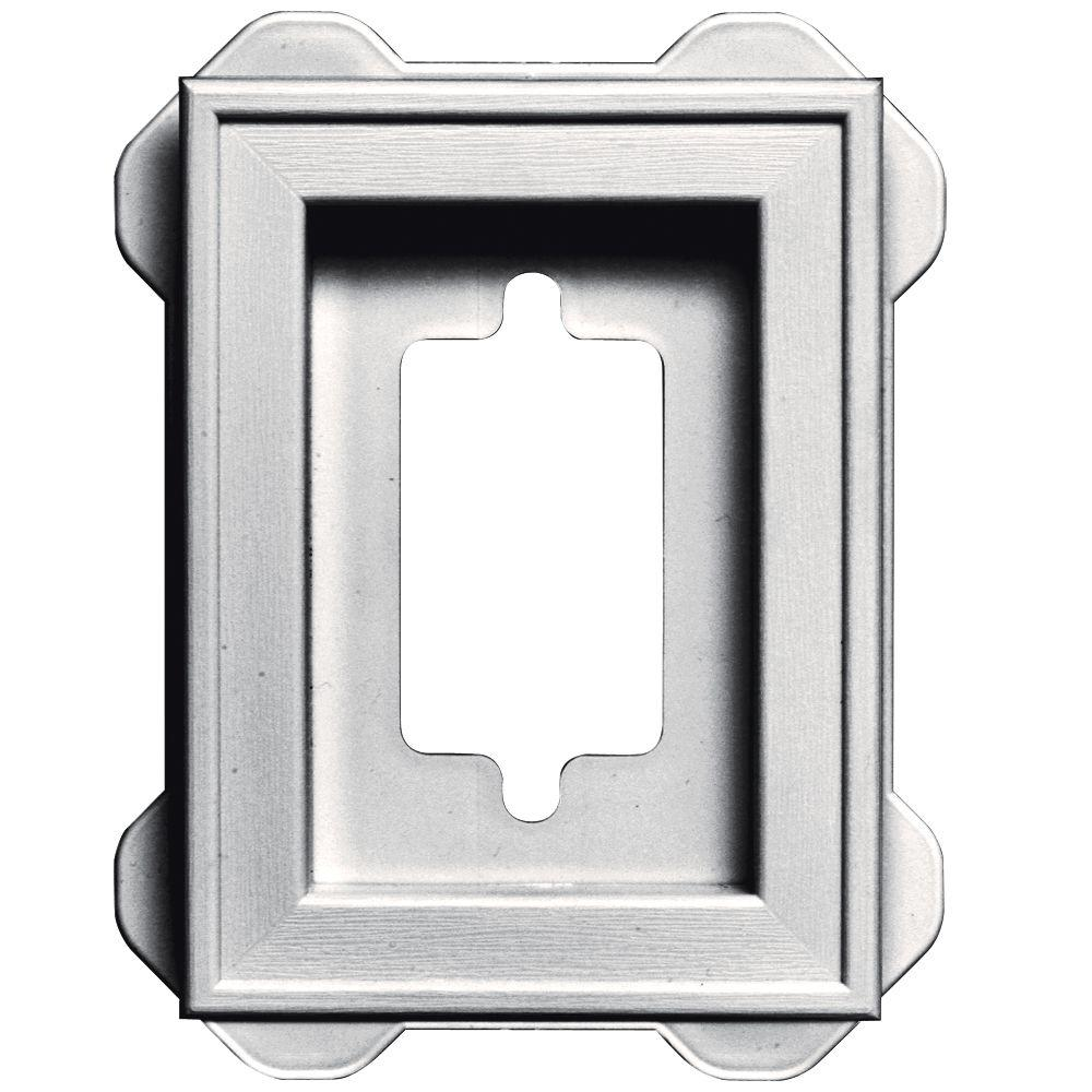 4.5 in. x 6.3125 in. #117 Bright White Recessed Mini Mounting