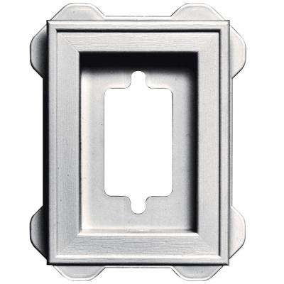 4.5 in. x 6.3125 in. #117 Bright White Recessed Mini Mounting Block