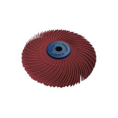Sunburst 3 in. 220-Grit 3-Ply Radial Discs 1/4 in. Arbor Standard Thermoplastic Cleaning and Polishing Tool