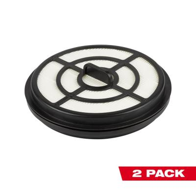 HEPA Filter for Milwaukee M18 FUEL Backpack Vacuum (2-Pack)