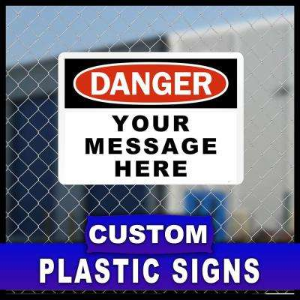 7 in. x 10 in. Custom Sign Printed on More Durable, Thicker, Longer Lasting Styrene Plastic