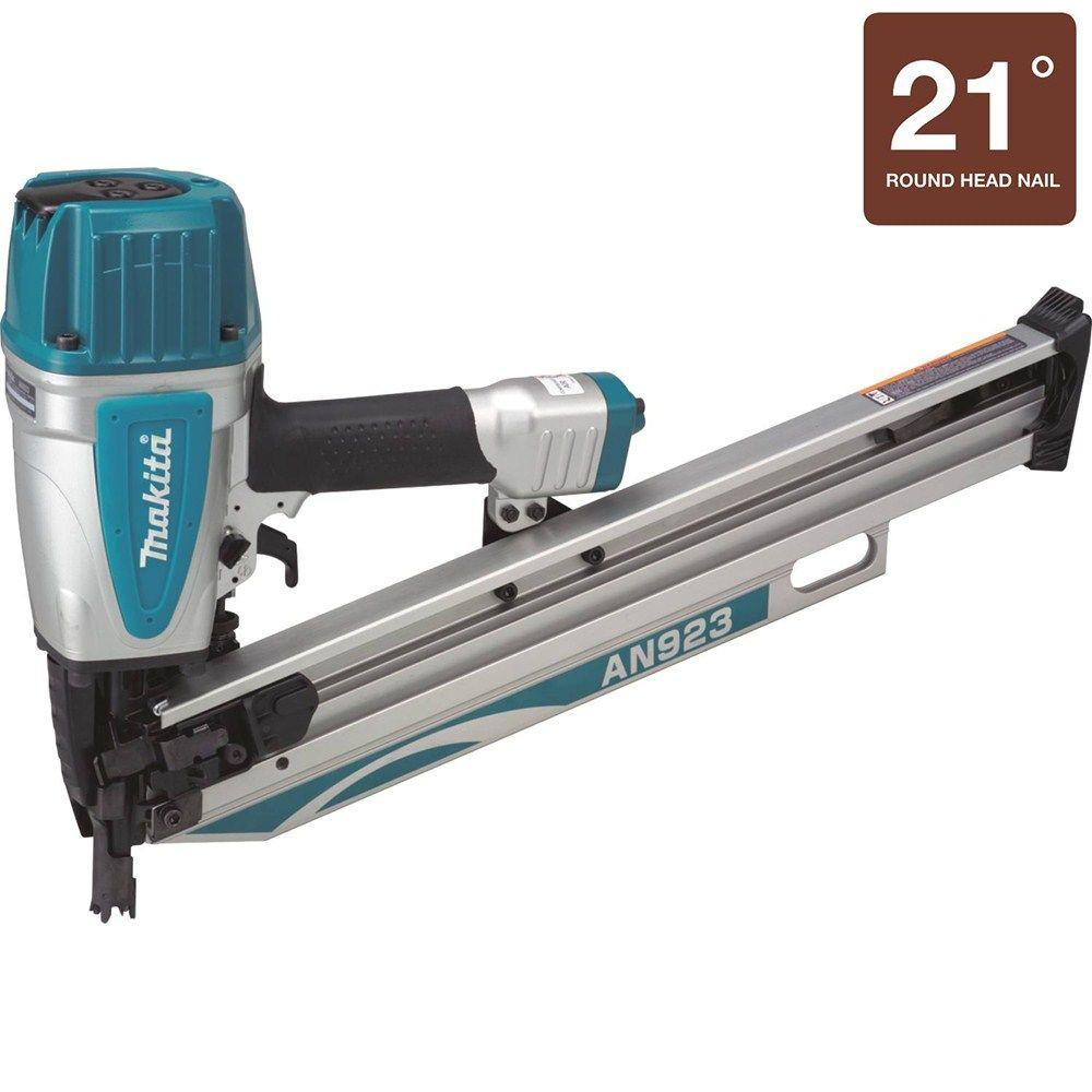 Makita 3-1/2 in. 21 Degree Full Round Head Framing Nailer-AN923 ...
