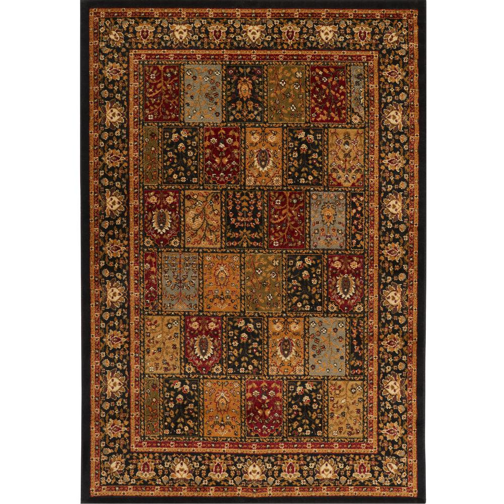 Home Dynamix Royalty Black 8 Ft X 10 Indoor Area Rug