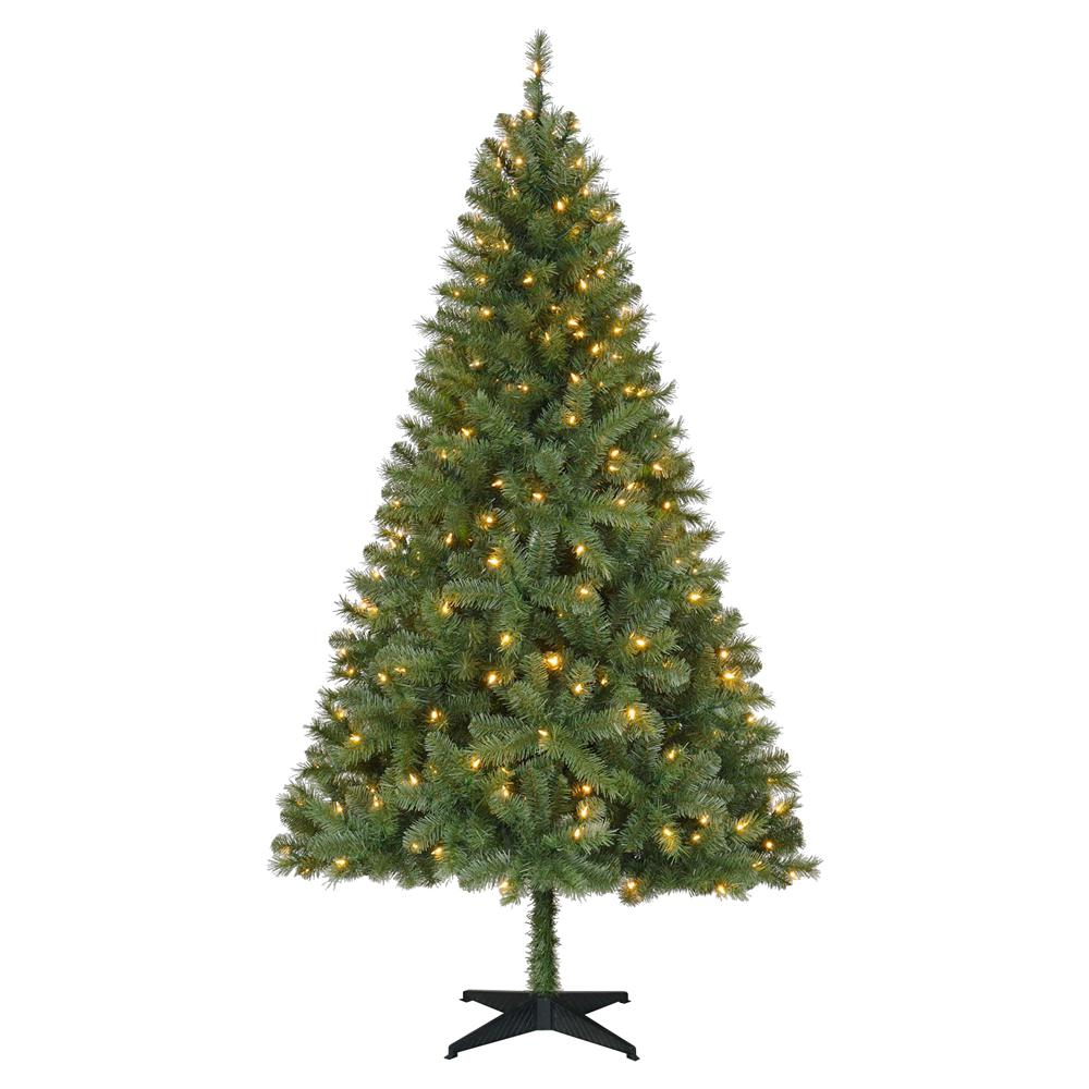 Home Accents Holiday 6.5 Ft. Pre-Lit LED Greenville Spruce