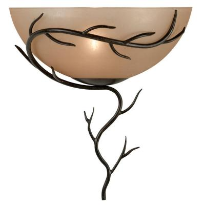 Twigs 1-Light Bronze Wall Sconce