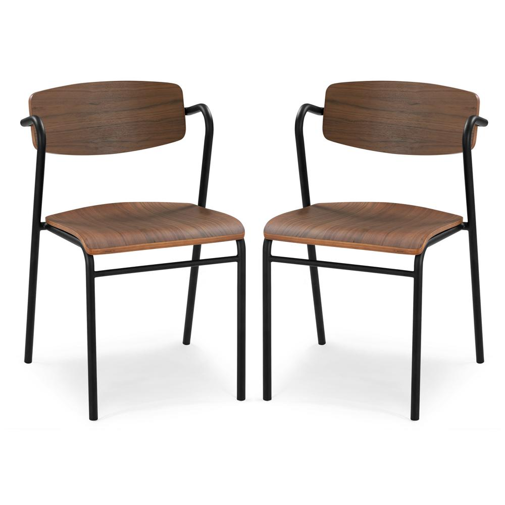 Poly and Bark Everly Dining Chair in Walnut (Set of 2), Brown was $358.62 now $215.17 (40.0% off)