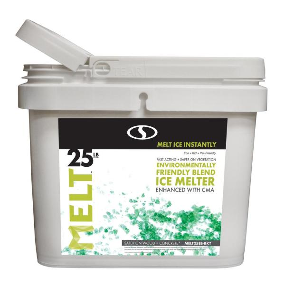 MELT 25 lb. Environmentally-Friendly Blend Ice Melter Bucket