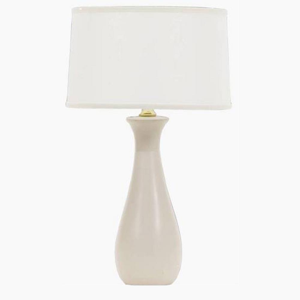 Fangio Lighting S 28 In Elongated Vase Ceramic Table Lamp Eggshell
