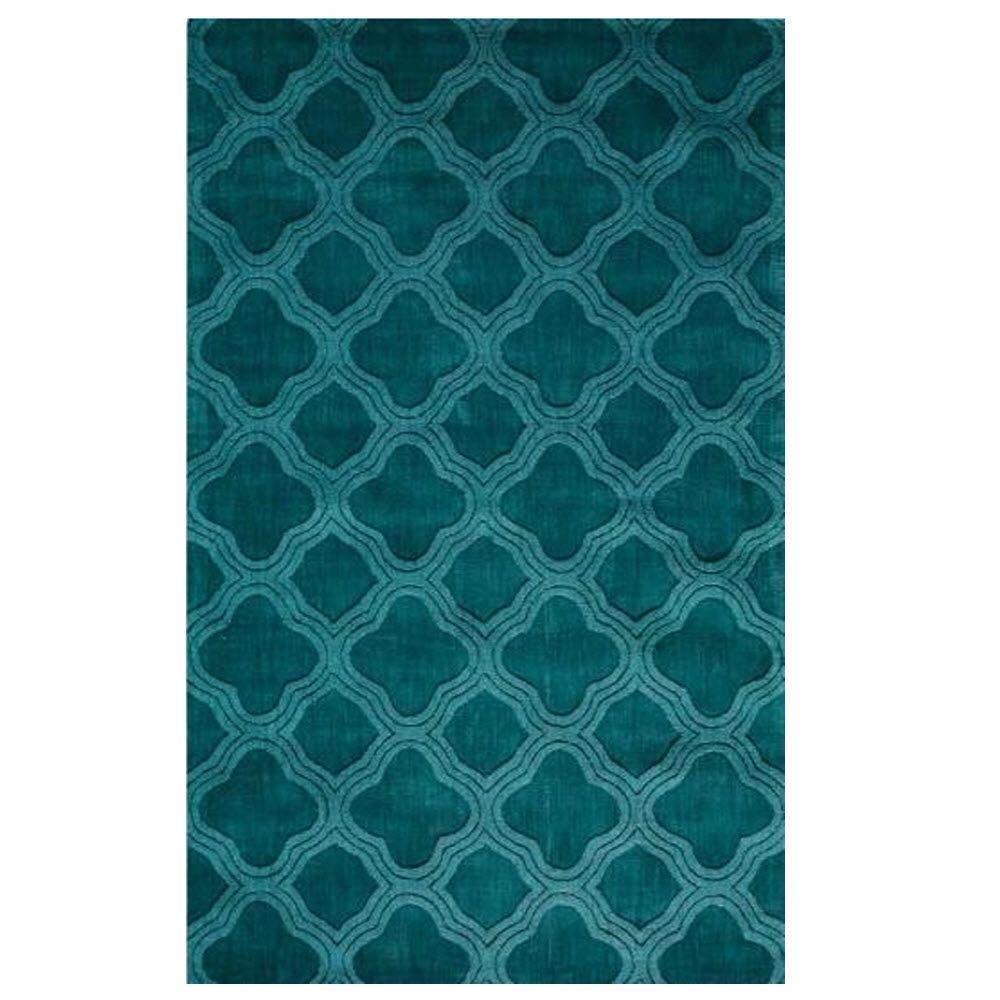 Home Decorators Collection Morocco Teal 3 ft. 6 in. x 5 ft. 6 in. Area Rug
