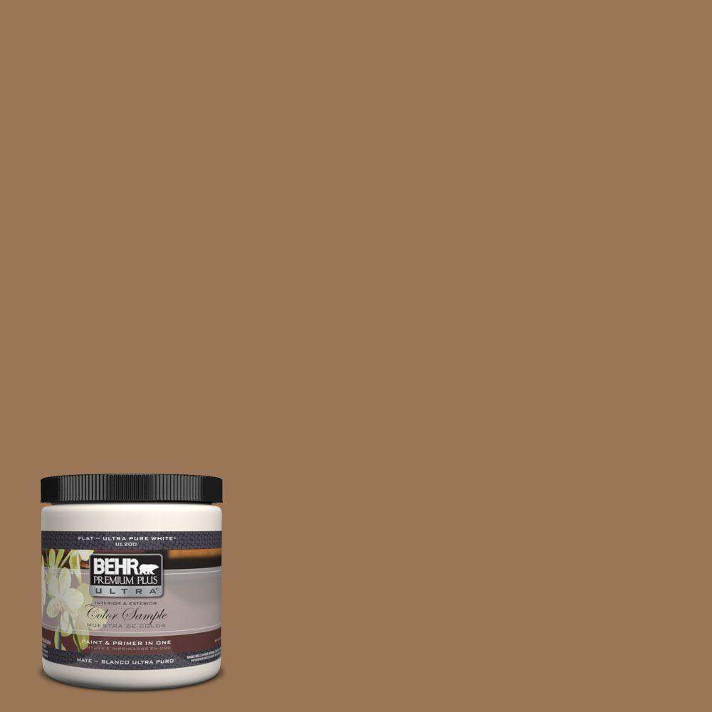 BEHR Premium Plus Ultra 8 oz. #UL130-5 Coco Rum Interior/Exterior Paint Sample