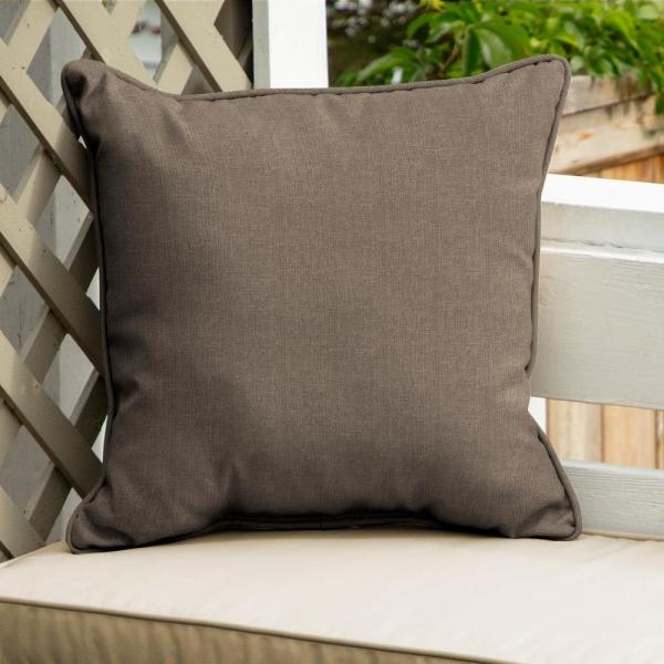 Home Decorators Collection Sunbrella Cast Shale Square Outdoor Throw Pillow 2 Pack Ah1x558b D9d2 The Home Depot