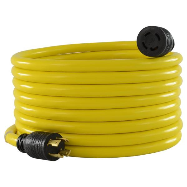 50 ft. 10/4 STW 30 Amp 125-Volt/250-Volt 4-Prong L14-30 Transfer Switch Cord/Generator Extension Cord