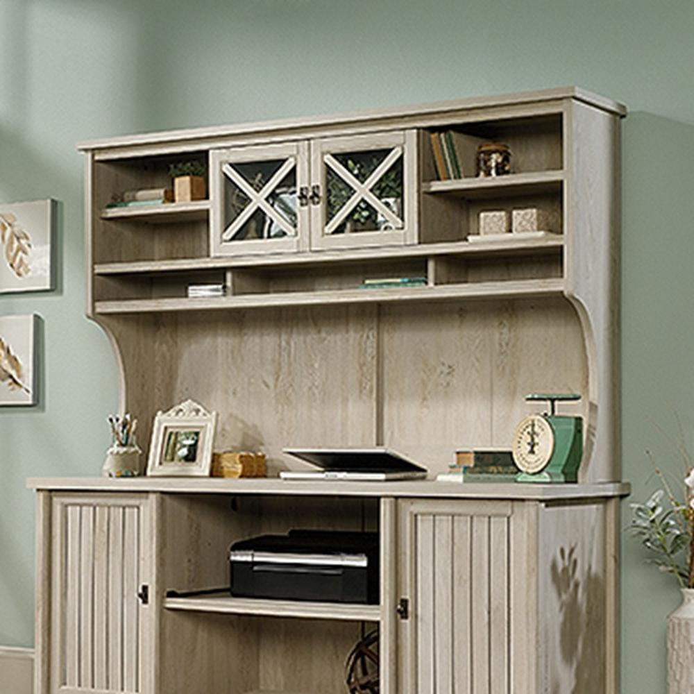Sauder Costa Chalked Chestnut Desk Hutch