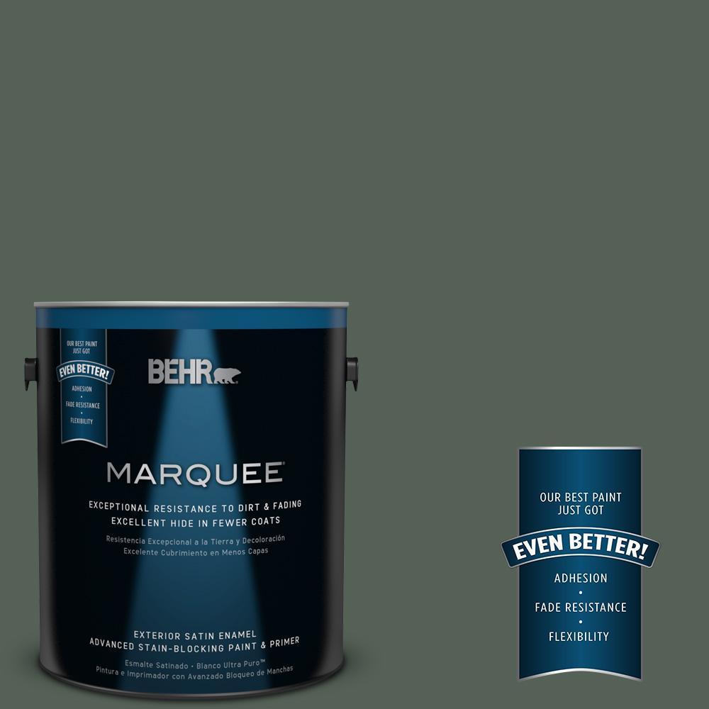 BEHR MARQUEE 1-gal. #MQ6-14 Northern Glen Satin Enamel Exterior Paint