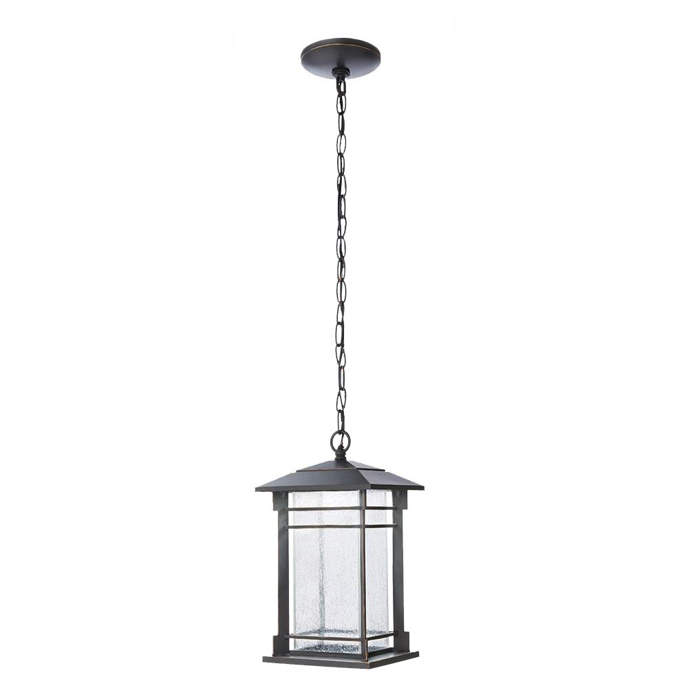 Home Decorators Collection Oil Rubbed Bronze Integrated LED Hanging Lantern was $99.58 now $69.99 (30.0% off)