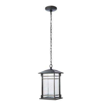 Oil Rubbed Bronze Integrated LED Hanging Lantern