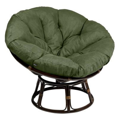 Montlake 52 in. Dia Heather Fern Water-Resistant Outdoor Lounge Papasan Cushion