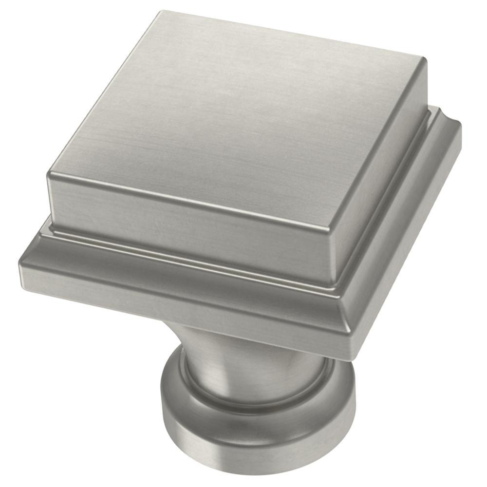 Regal Square 1 in. (25 mm) Satin Nickel Cabinet Knob