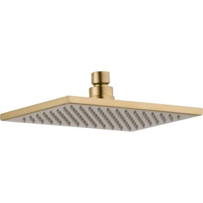 Vero 1-Spray 8.6 in. Single Wall Mount Fixed Rain Shower Head in Champagne Bronze
