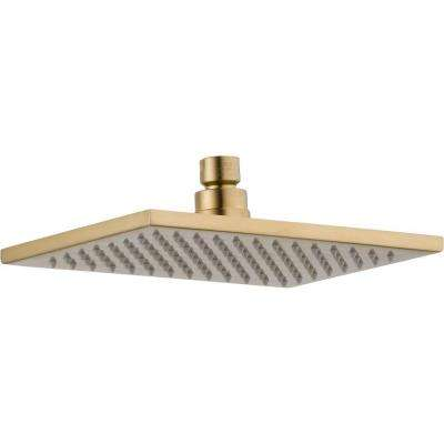 Vero 1-Spray 2.5 GPM 8-5/8 in. Raincan Shower Head in Champagne Bronze