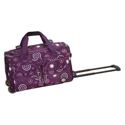 Rockland Voyage 22 in. Rolling Duffle Bag, Purplepearl