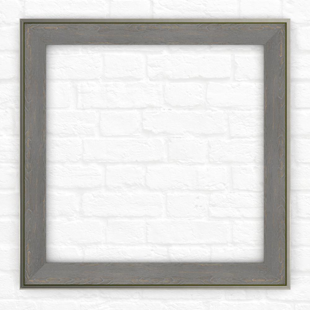33 in. x 33 in. (L2) Square Mirror Frame in Weathered
