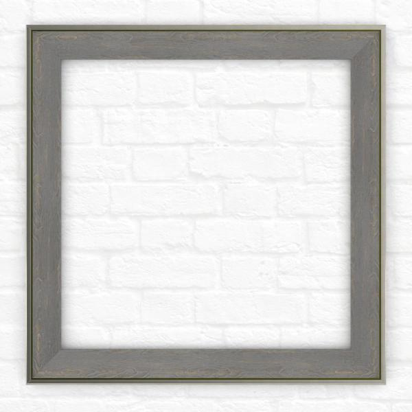 33 in. x 33 in. (L2) Square Mirror Frame in Weathered Wood