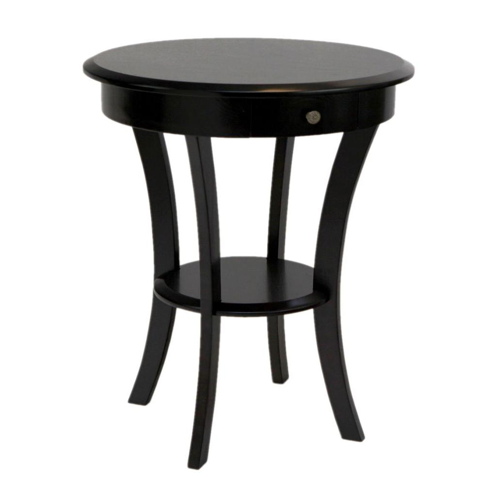 Frenchi Home Furnishing Espresso Storage End Table