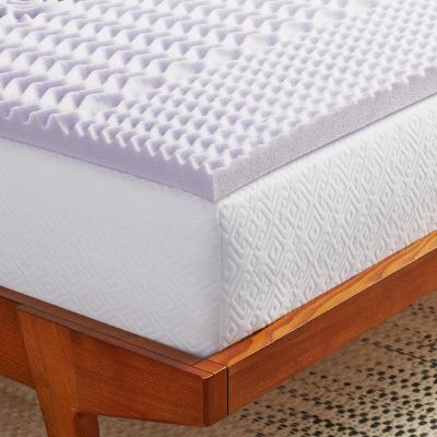 2 In. Zoned Lavender Infused Memory Foam Mattress Topper