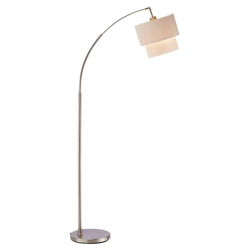 Adesso Gala 71 in. Natural Arc Lamp