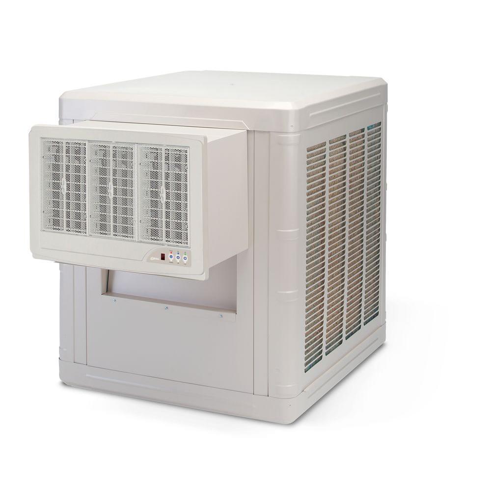 Good 5000 CFM 2 Speed Front Discharge Window Evaporative Cooler For 1600 Sq. Ft.