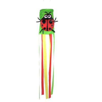 36 in. Ladybug Multi-Color Wind Sock