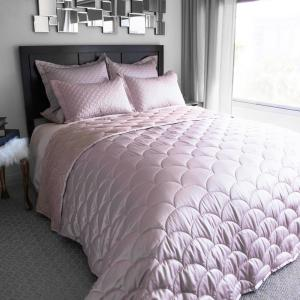 Nikki Chu Rose Gold F/Q Down Alternative Blanket by