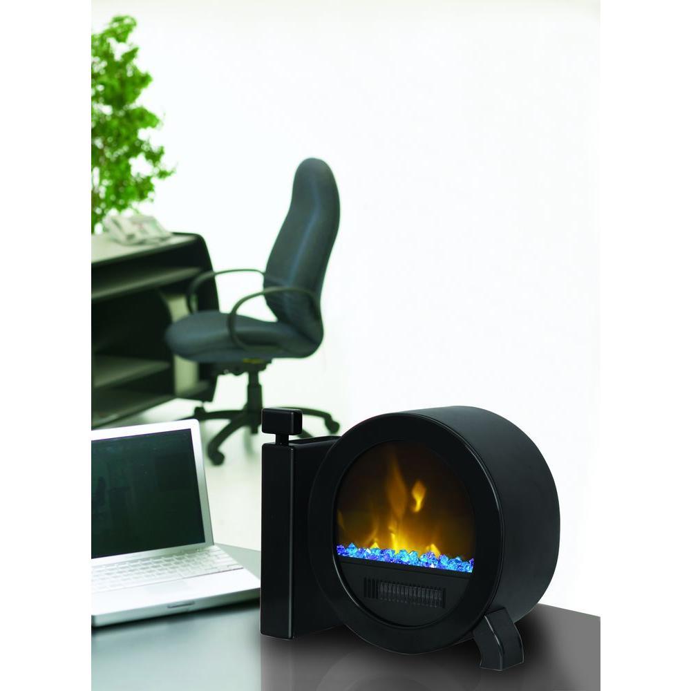 Muskoka IQ 14 in. Personal Desktop Electric Fireplace in Gloss Black